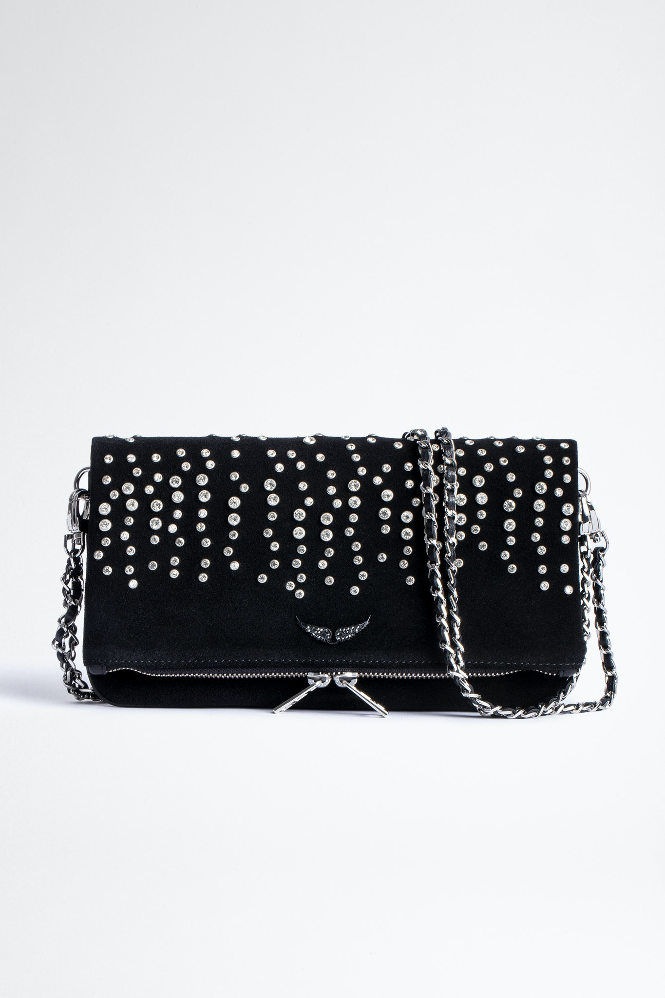 Rock Suede Strass Clutch
