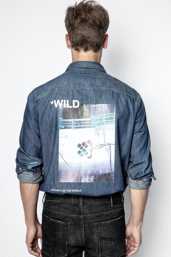 Camisa Stan Denim Photoprint