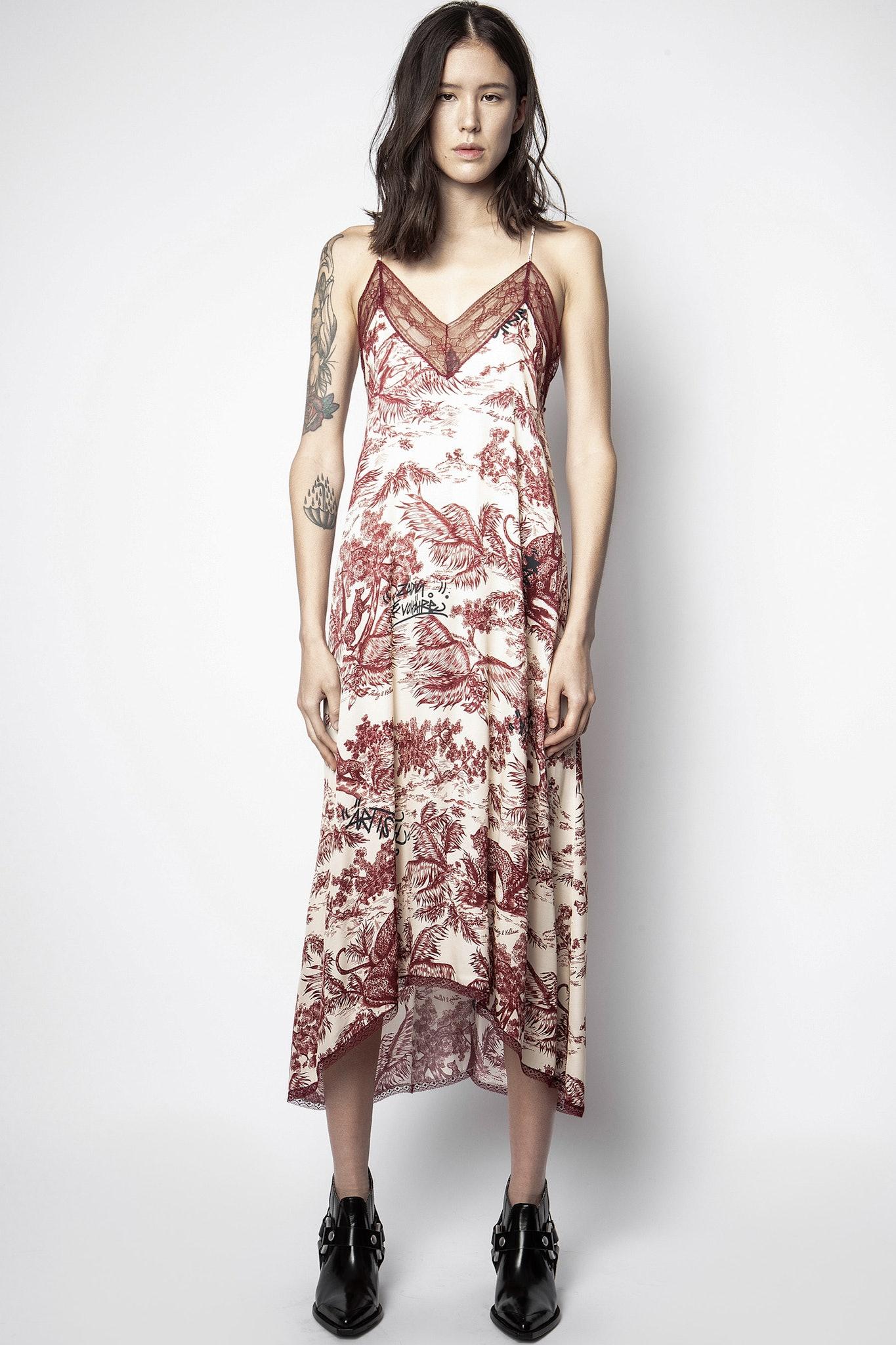Risty Jouy Satin Dress