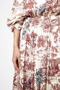 Rore Jouy Satin Dress