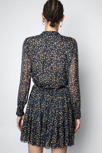 Robe Rapidy Crinkel Print Etoiles