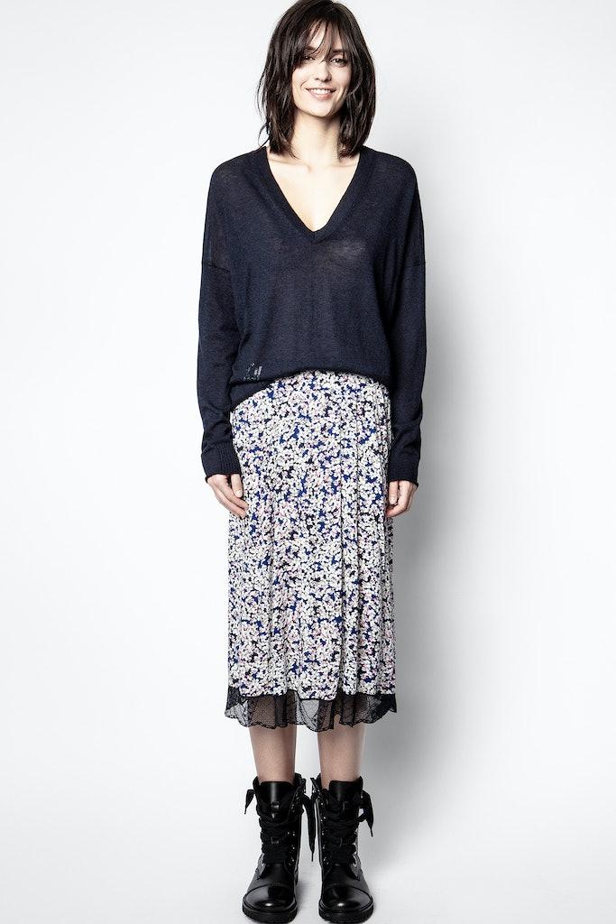 Jenny Print Begonia Skirt