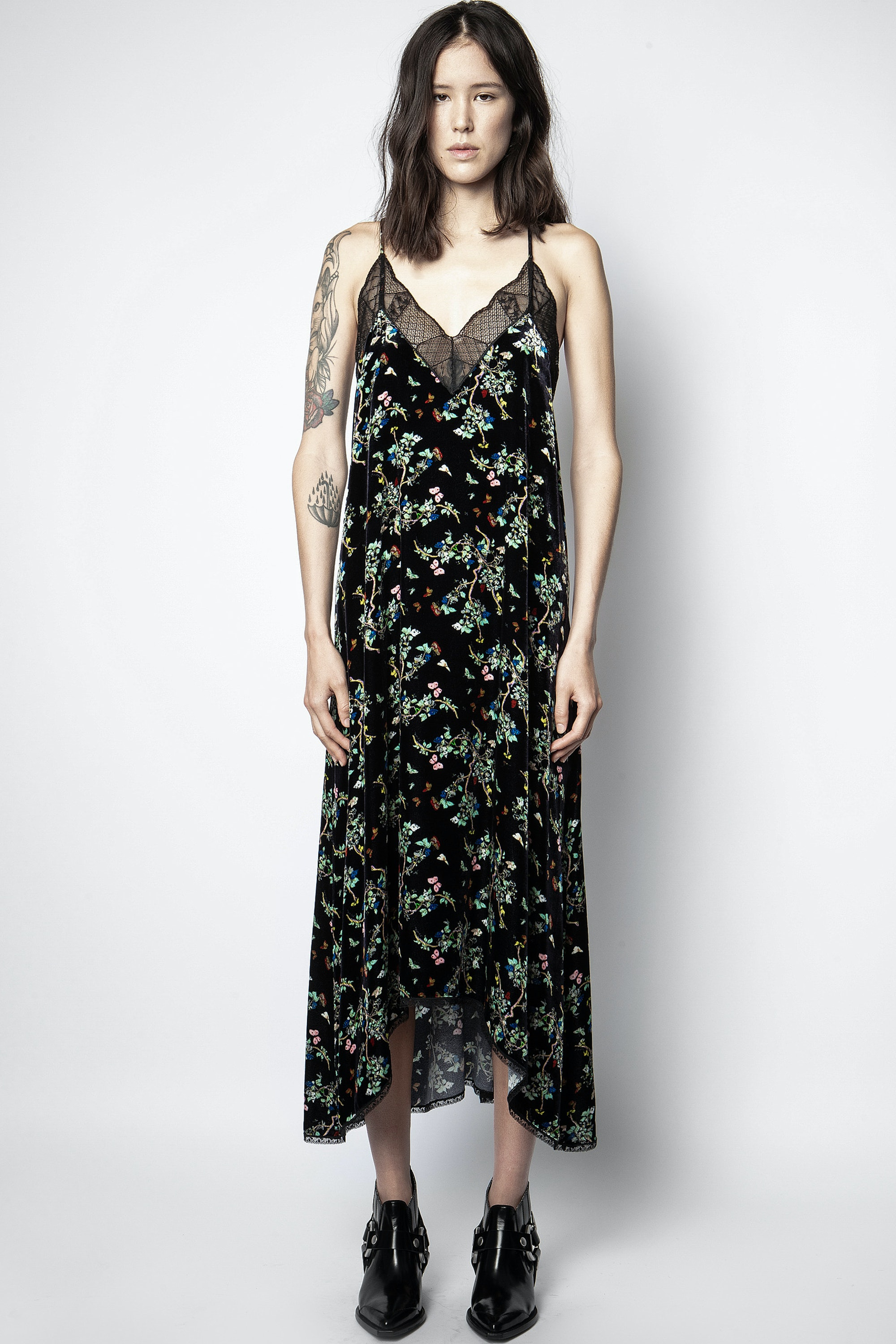 Risty Velvet Blossom Dress