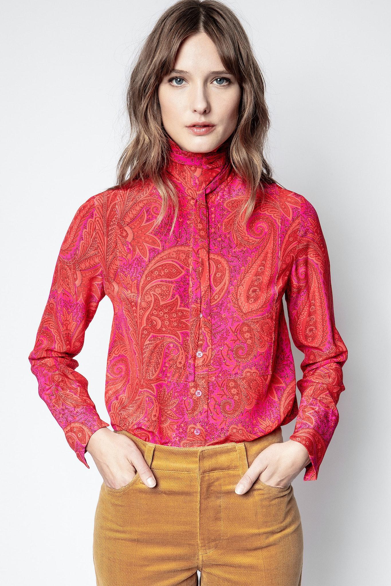 Tessi Paisley Peacock Shirt