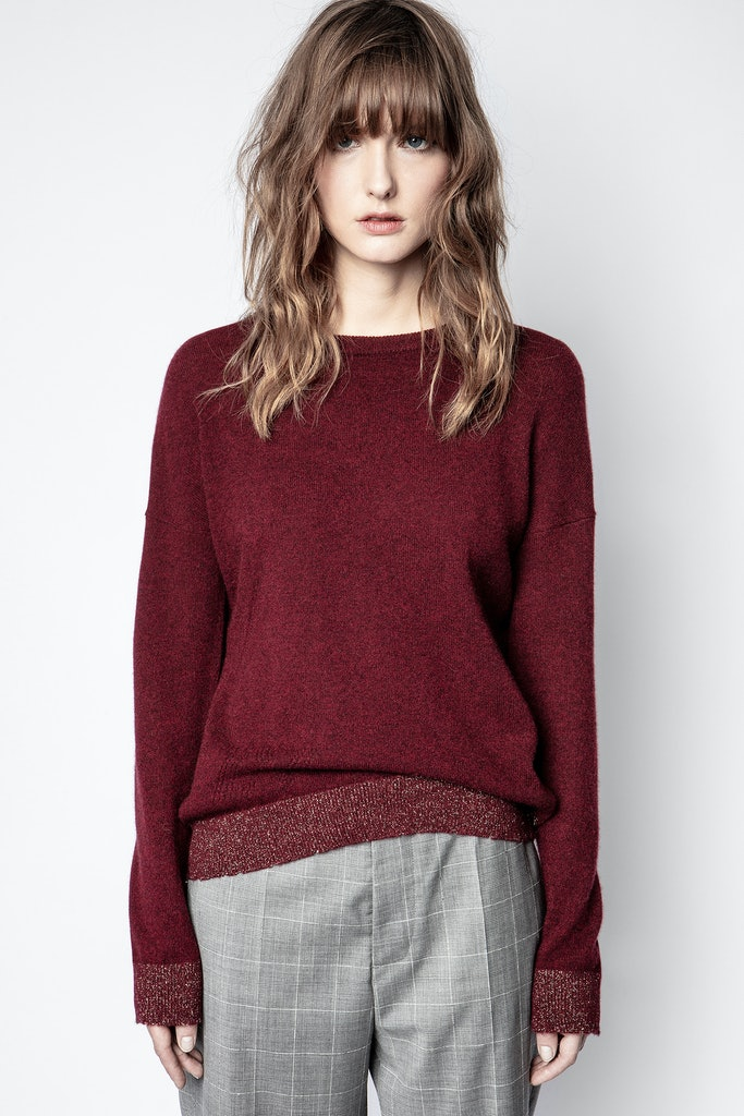 Cici Patch Lurex Cachemire Sweater