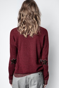 Pull Cici Patch Lurex Cachemire
