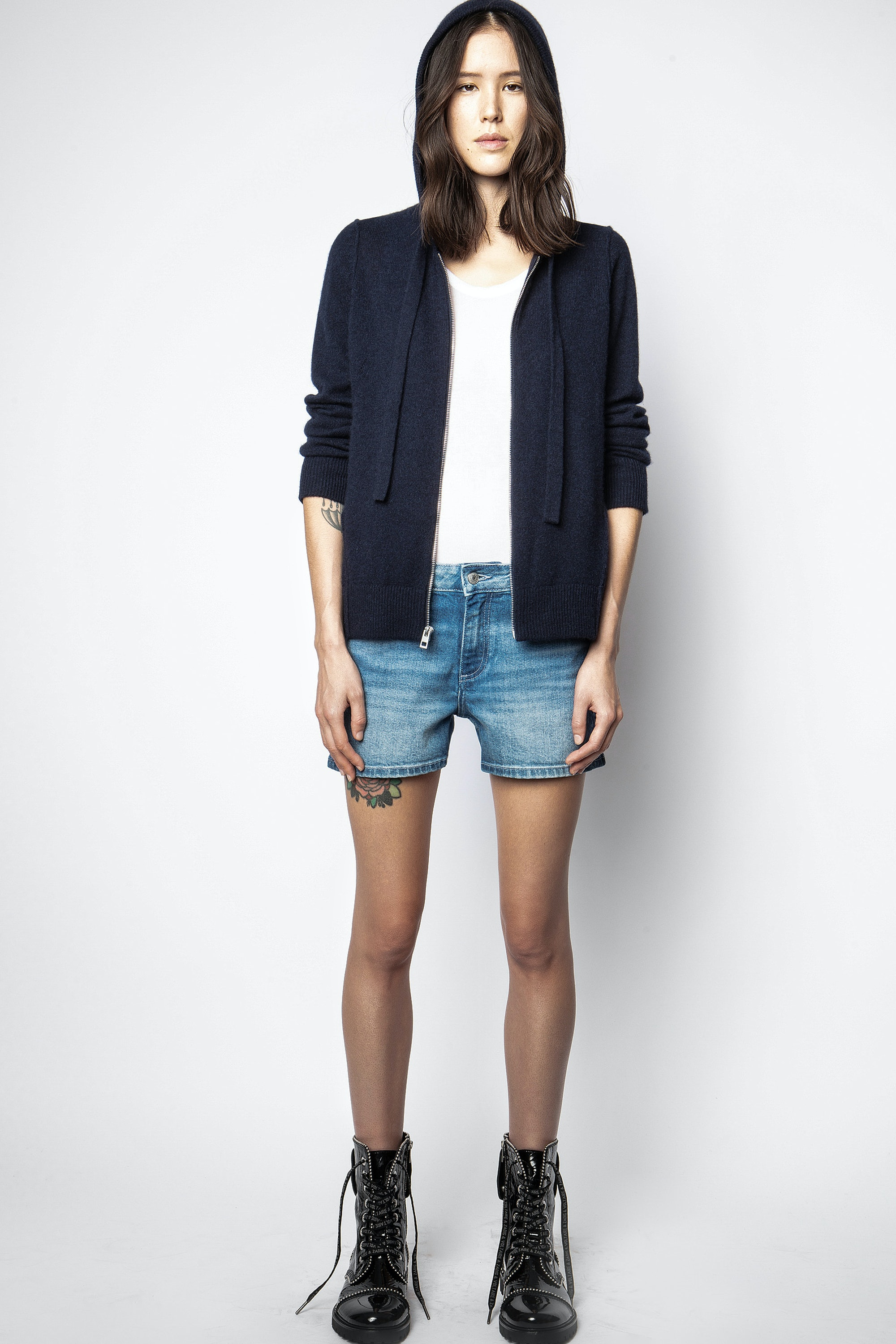 Cassy Patch Cachemire Cardigan