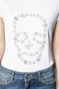 Skinny Strass Skull Stars T-shirt