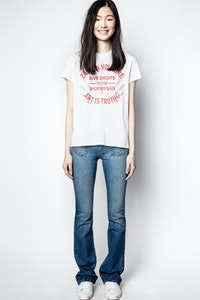 T-shirt Zoe Blason Strass