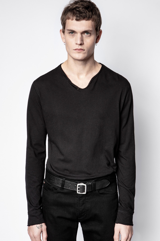 Monastir Eagle Skull Henley T-shirt