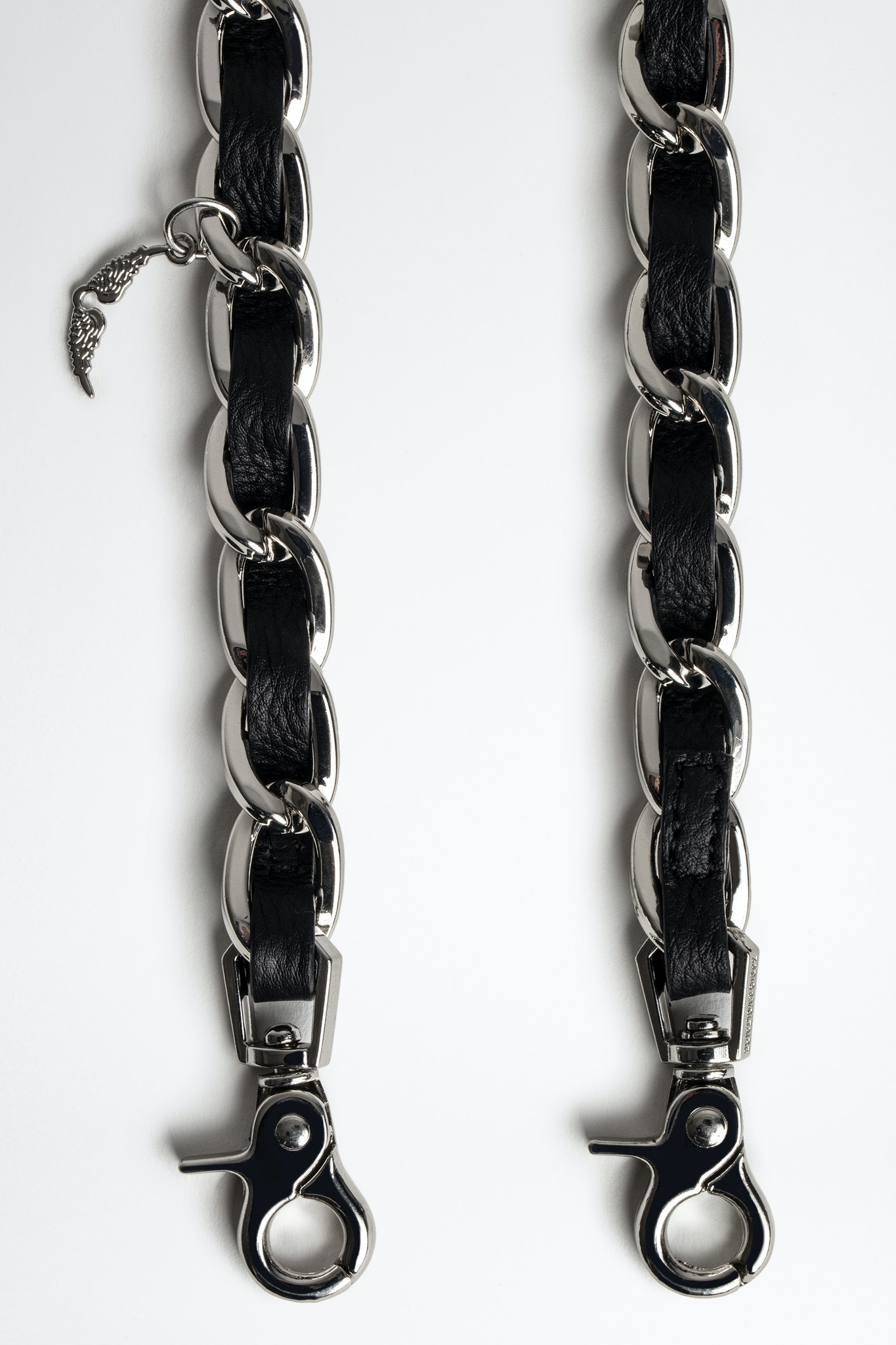 Chain and Leather Shoulder Strap