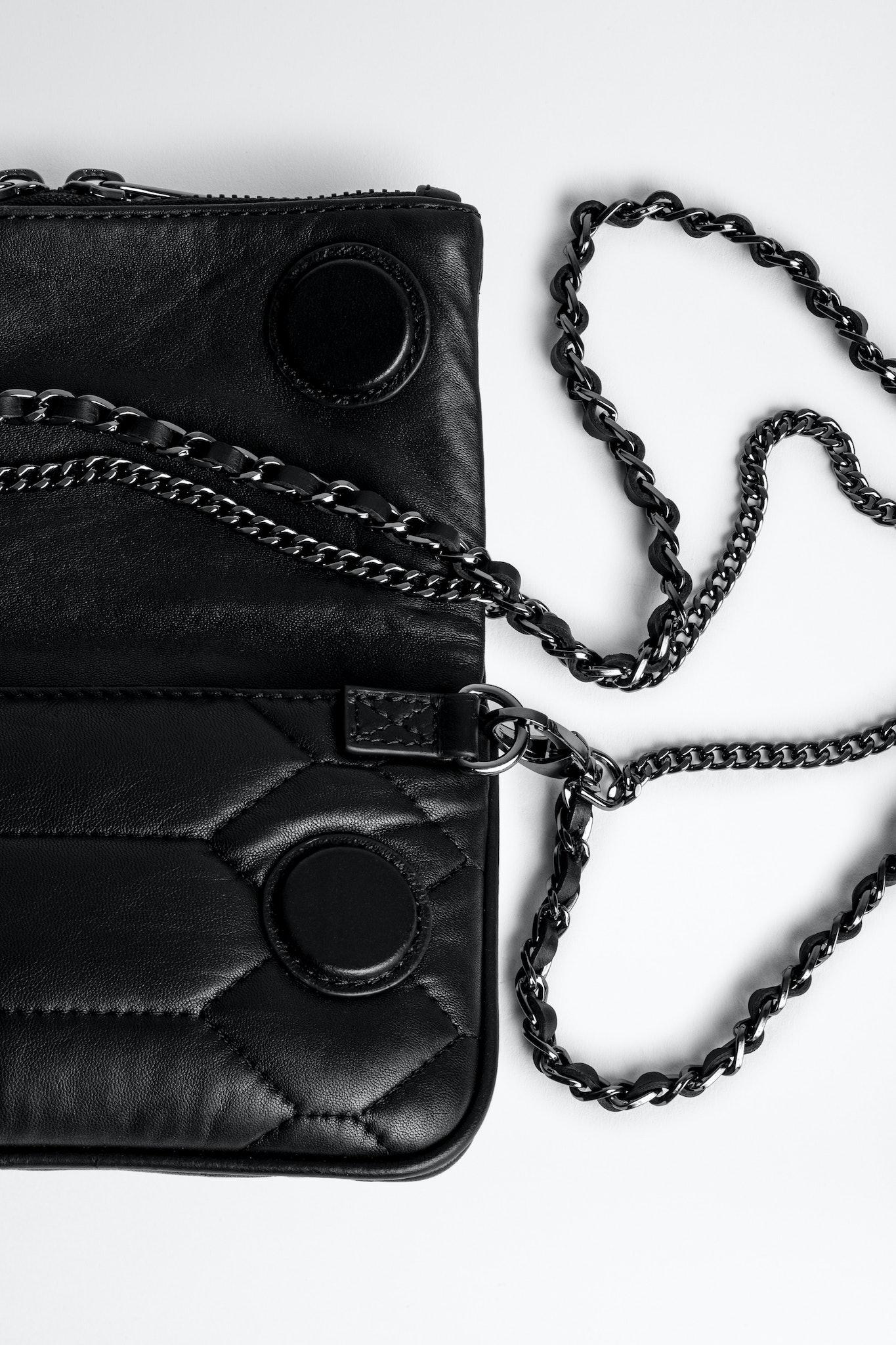 Clutch Rock Nano aus gestepptem Leder