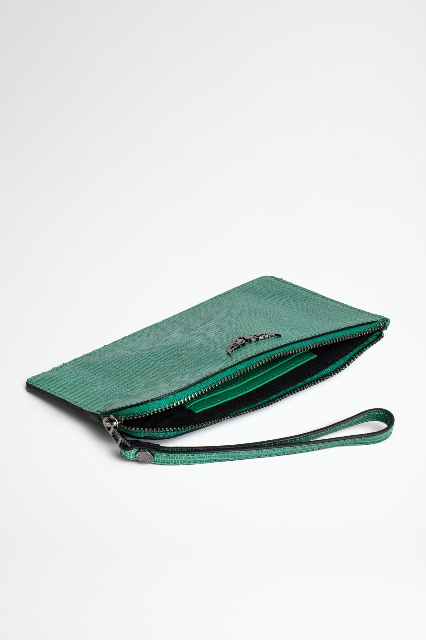 Grained Leather Phone Wallet