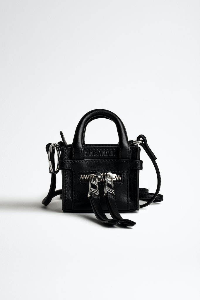 Smooth Leather Candide Grigri Charm Bag