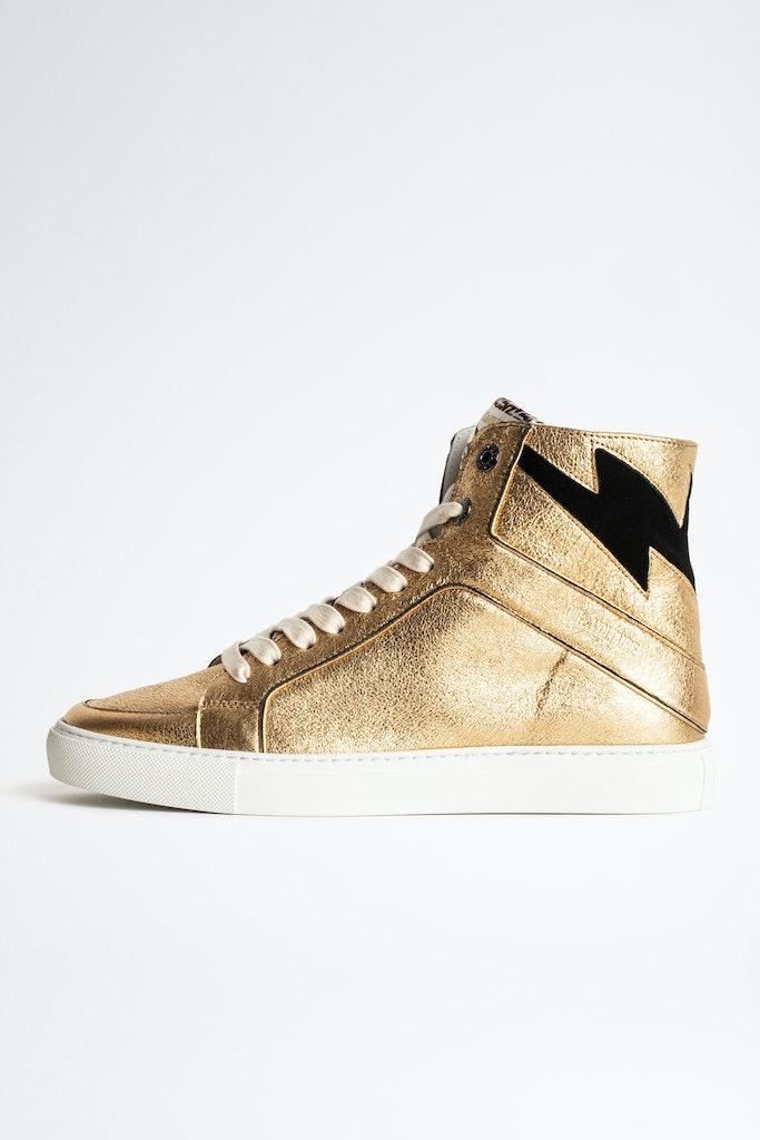 ZV1747 High Flash Metal Sneakers