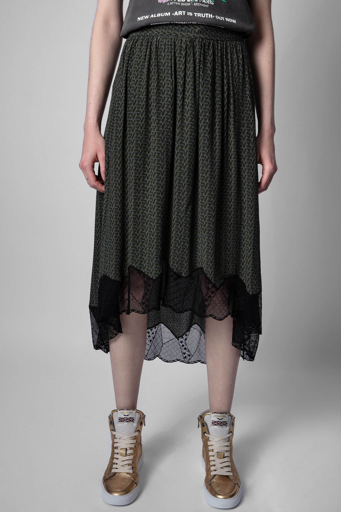 Joslin mid-length skirt