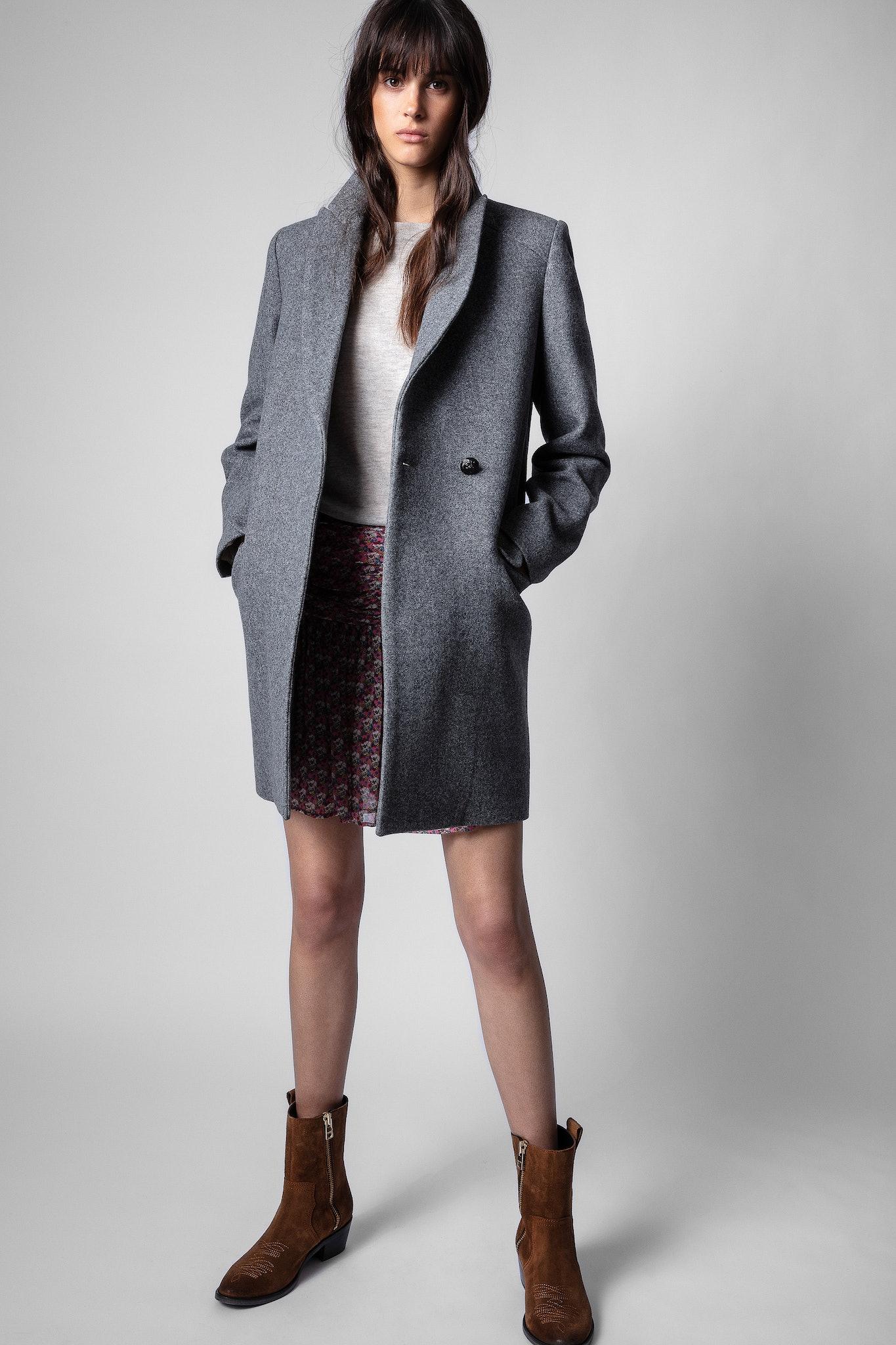 Flecked Grey Marco Coat