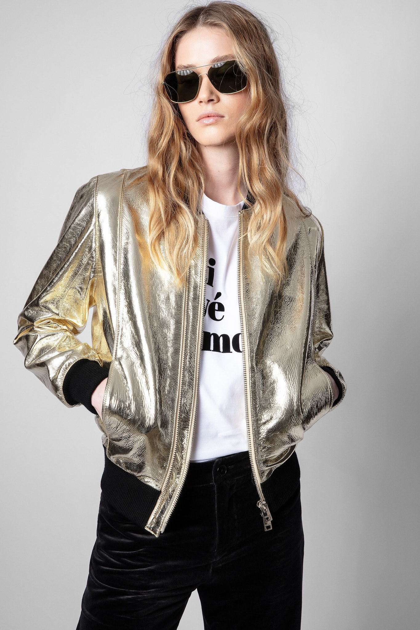 Giubbotto Larsona gold foil