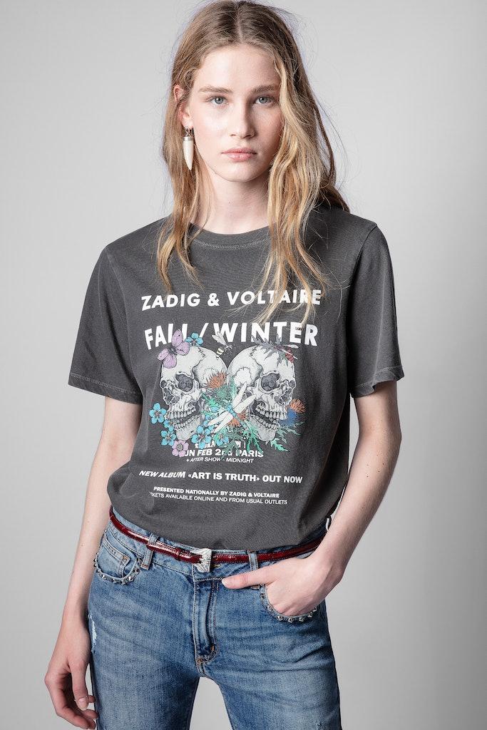 T-shirt Bella rock skull