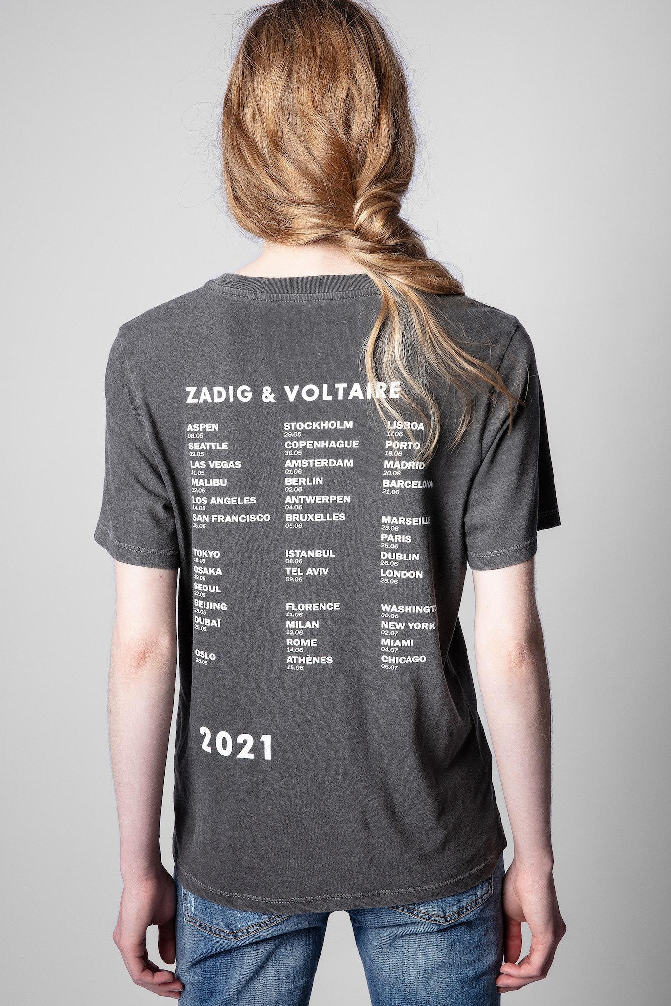 T-shirt Bella rock con teschio
