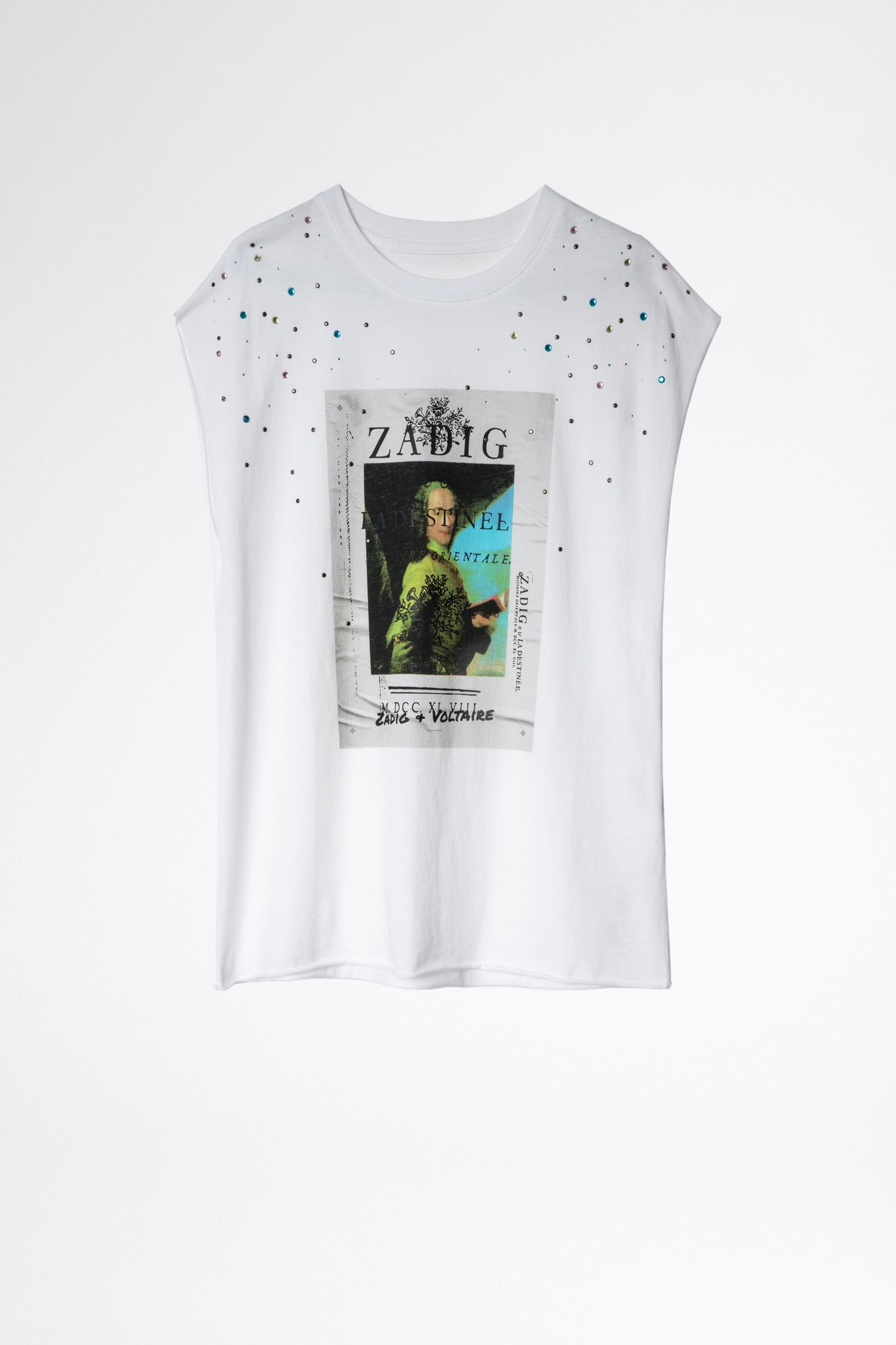 T-Shirt Cecilia Photoprint Voltaire Strass