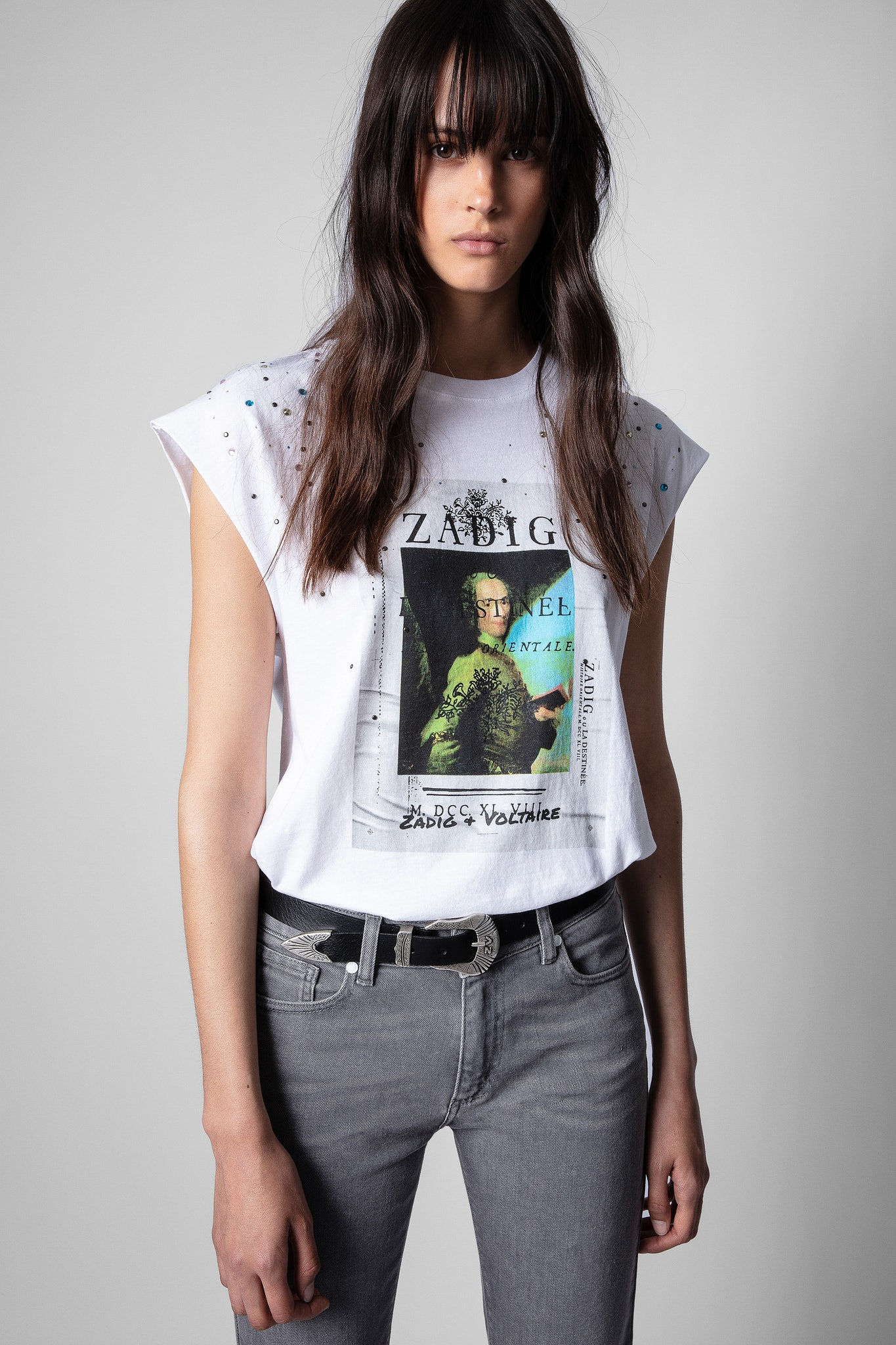 Cecilia Photoprint Voltaire Strass T-Shirt