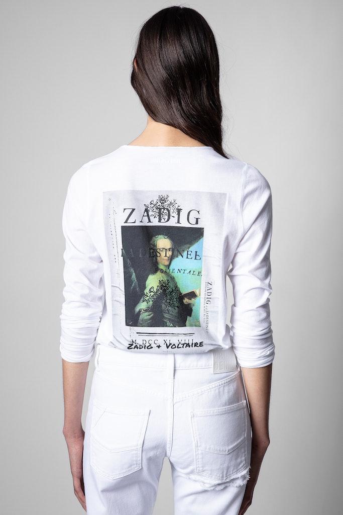 T-Shirt mit Henley-Ausschnitt Photoprint