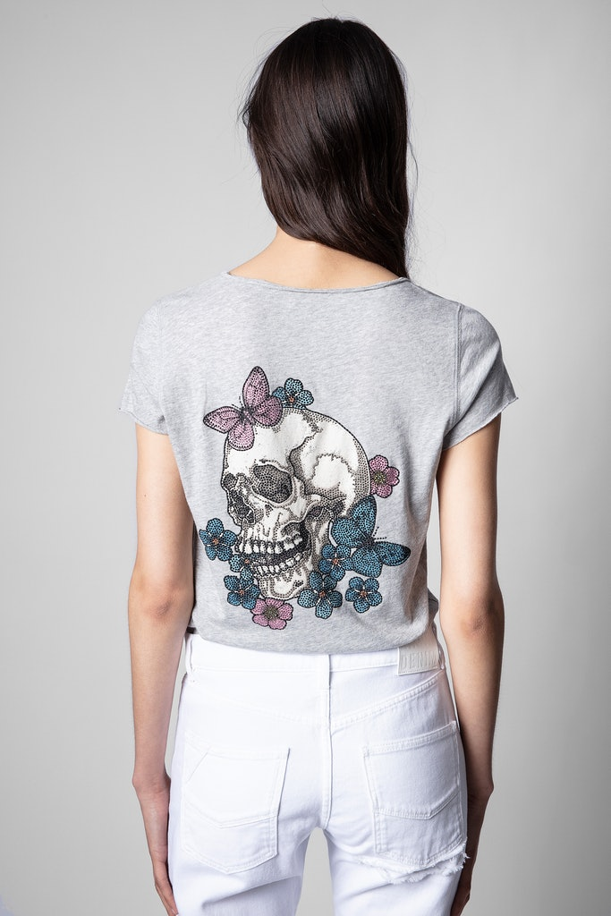 Skull henley T-shirt