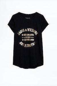 T-shirt Skinny Foil Blason