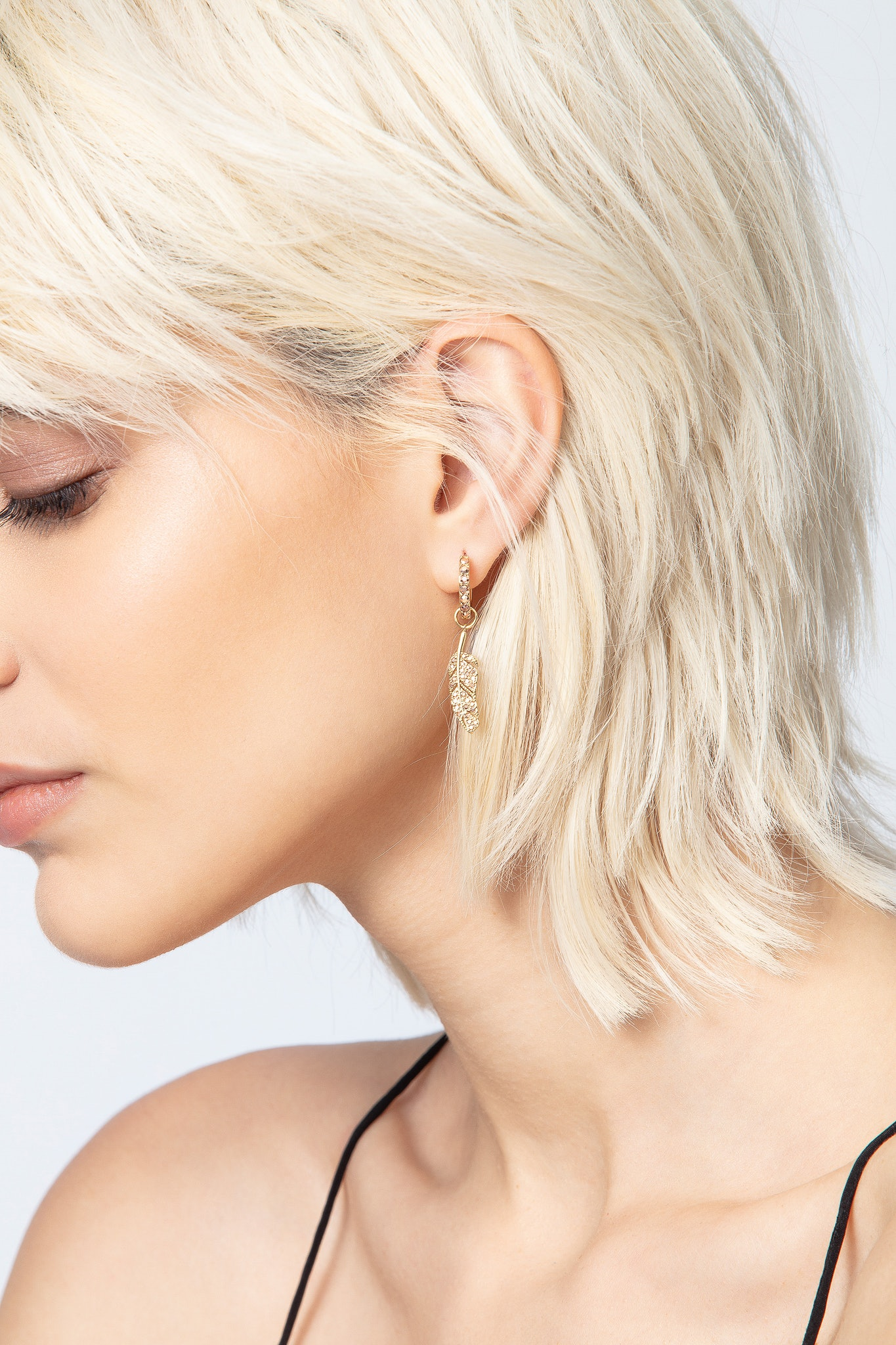Feather Strass Earrings