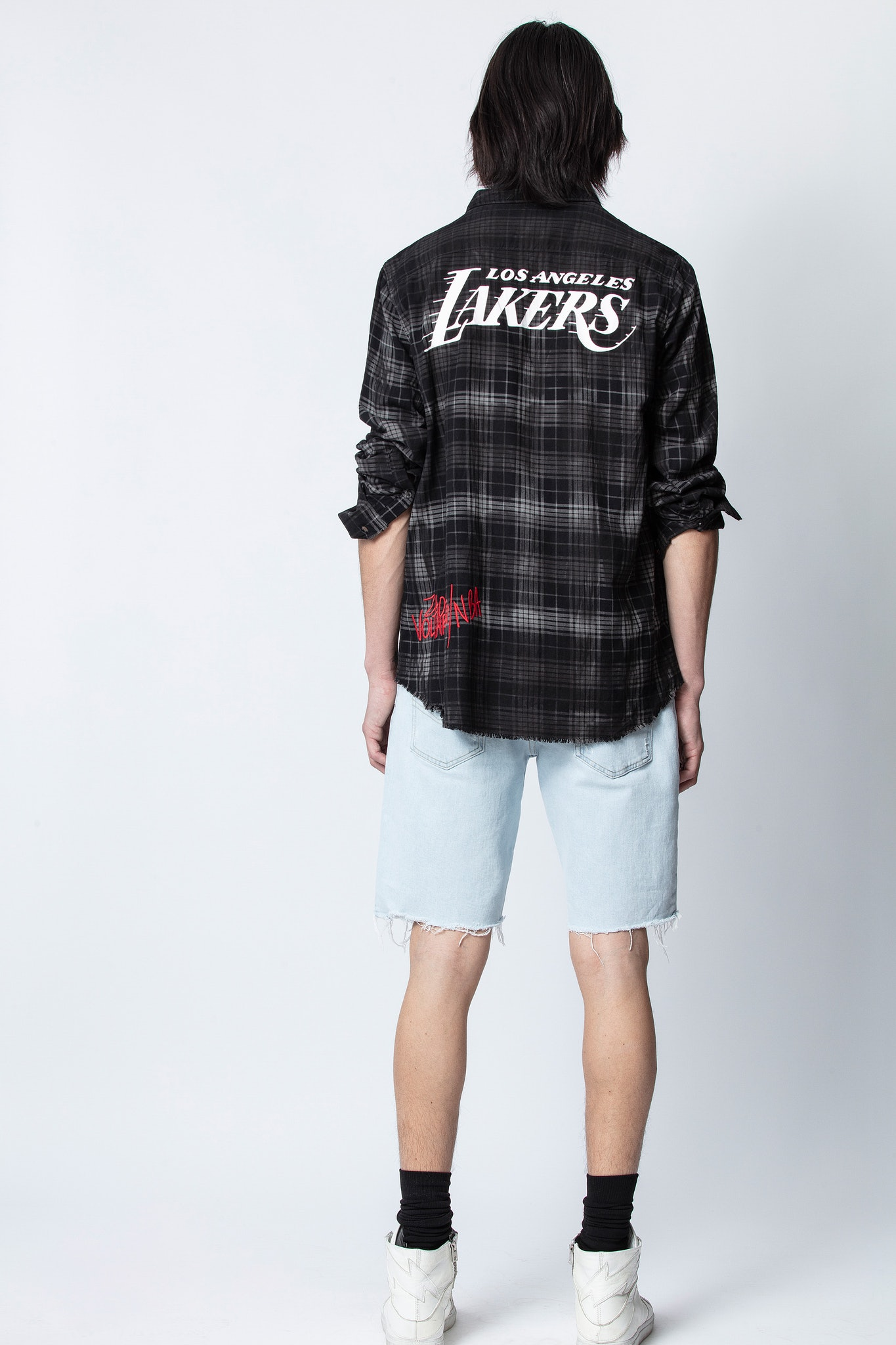 Stanael Lakers NBA Check Shirt