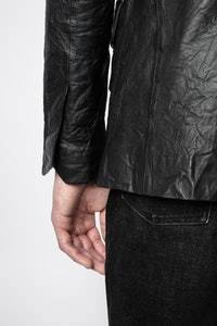 Valfried Crinkle Leather Jacket