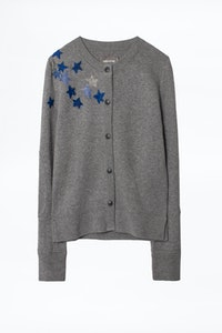 Puky Cows Star Embroidery Cardigan
