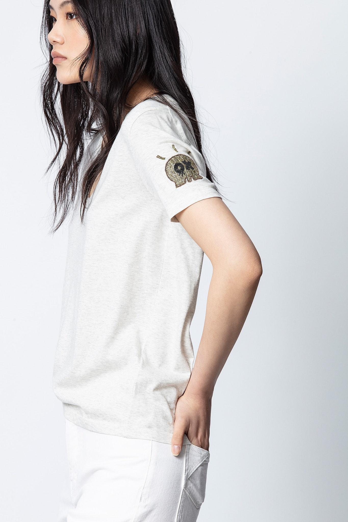Tino Moni Cannetille Brodé T-shirt