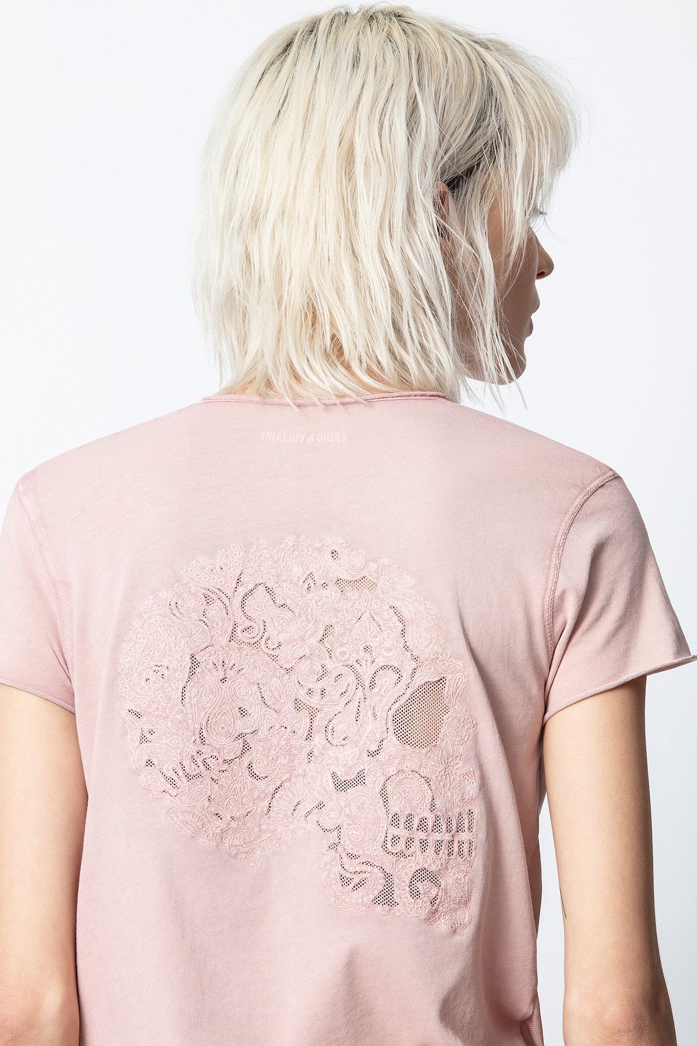Story Fishnet Mandala Skull T-Shirt