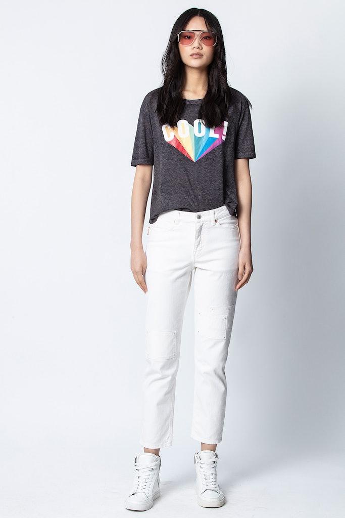 Camiseta Kanye Cool Rainbow