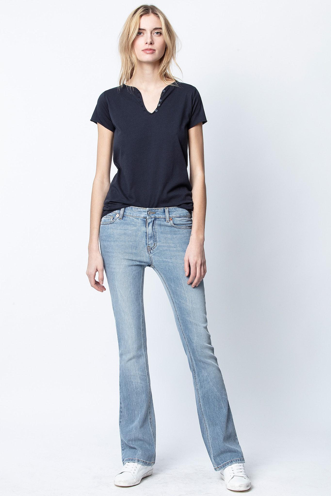 TDM Jormi Strass Henley T-shirt