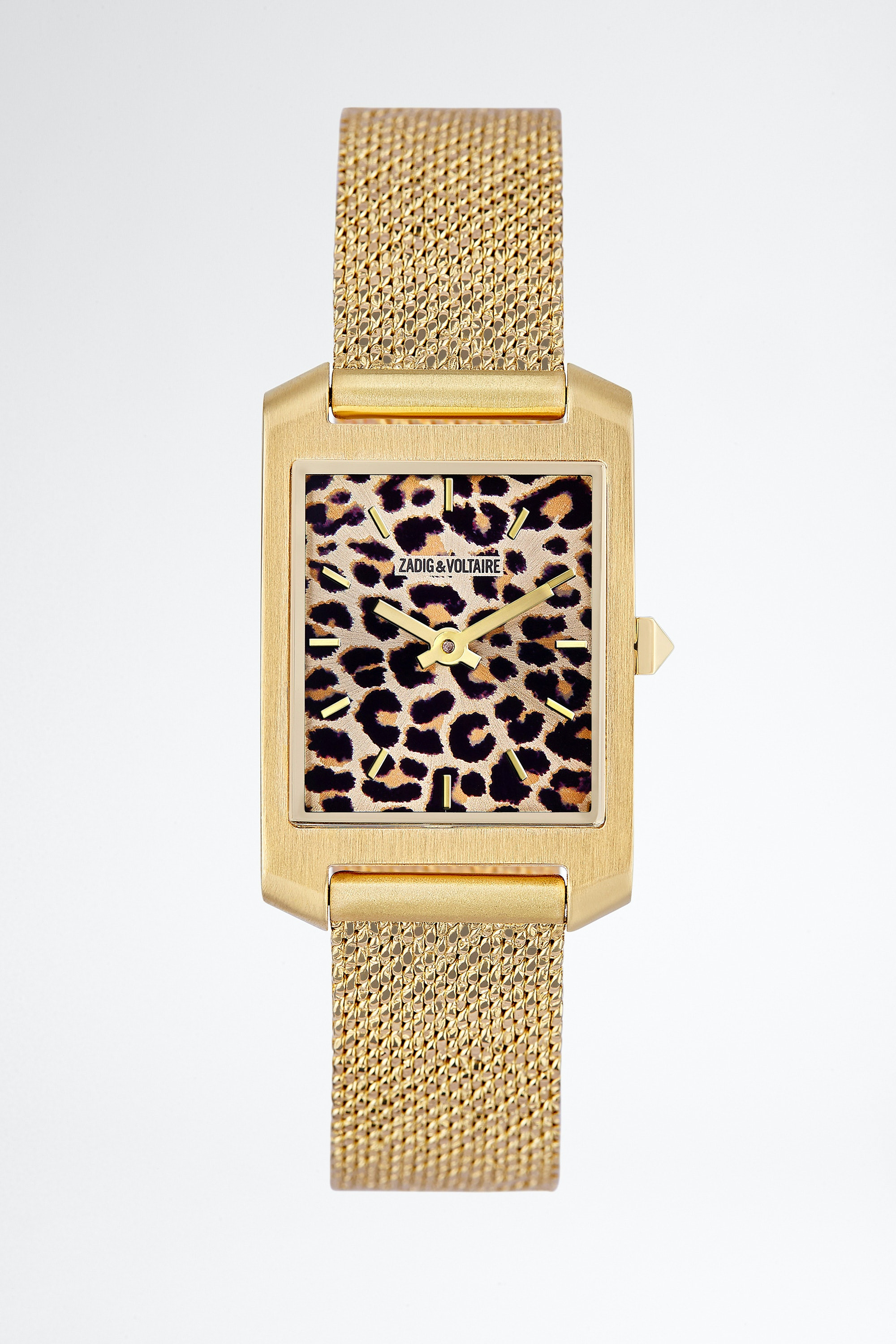 Leopard Printed Timeline Watch