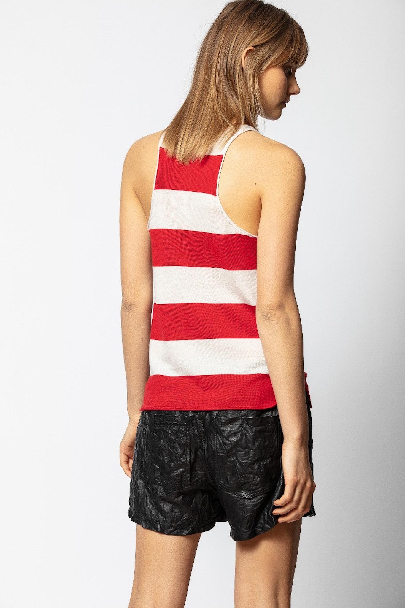 Lee Knitted Stripe Tank Top