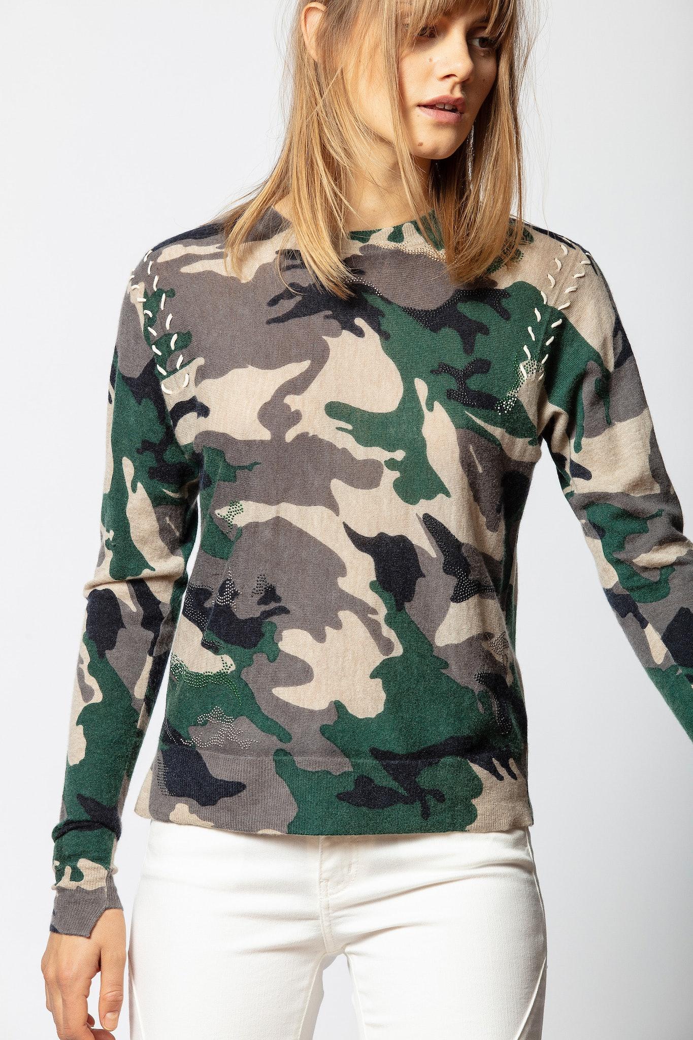 Crisp Cachemire Camou Sweater