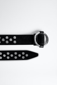 Ring XS Suede Studs Belt