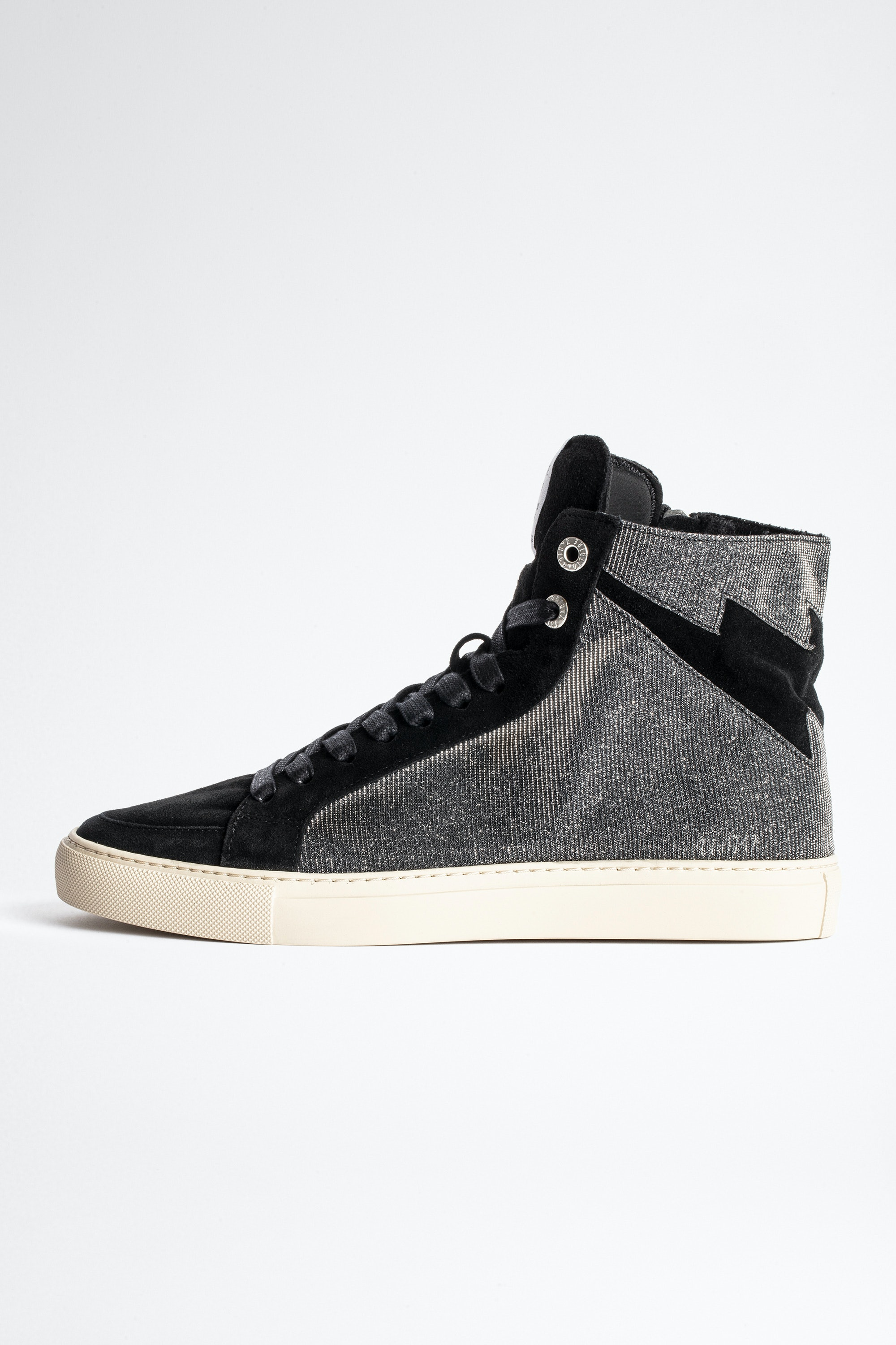 ZV1747 High Flash Sparkle Suede Sneakers