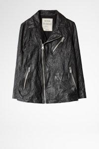Laski Cuir Froissé Jacket