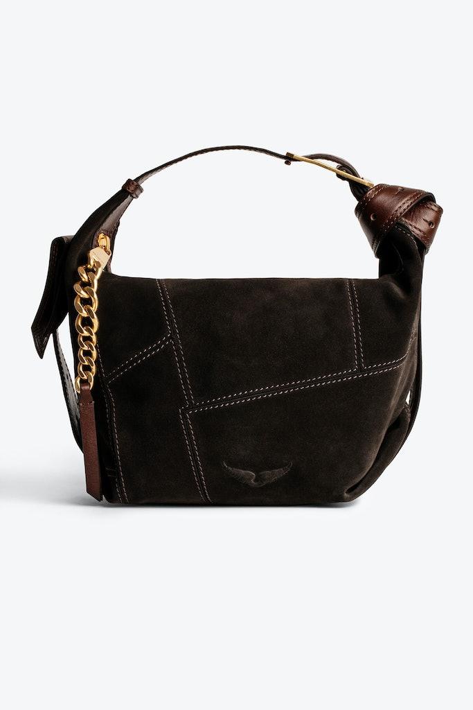 Le Cecilia Suede Patchwork Bag