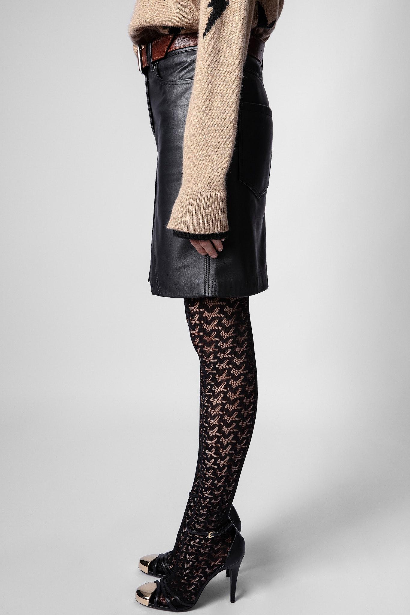 Jeu Leather Skirt