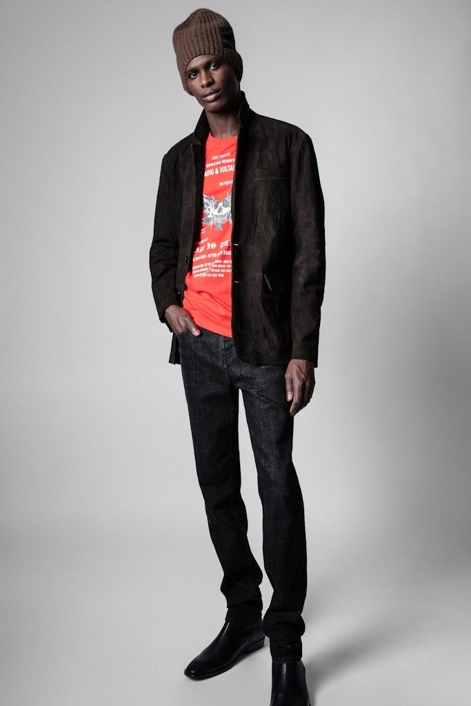Valfried Crinkle Blazer Crinkled Leather
