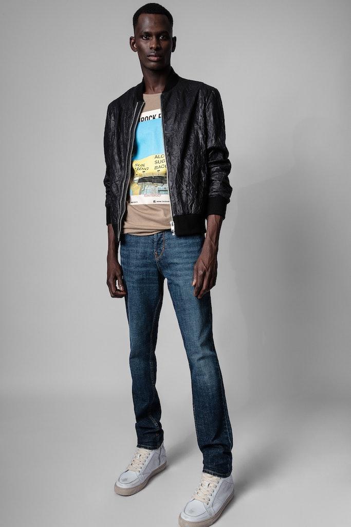 Larson Jacket Crinkled Leather